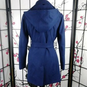 MICHAEL Michael Kors Jackets & Coats - Michael Kors Hooded Wool Trench Coat Blue Jacket